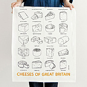 tea towel / CHEESES